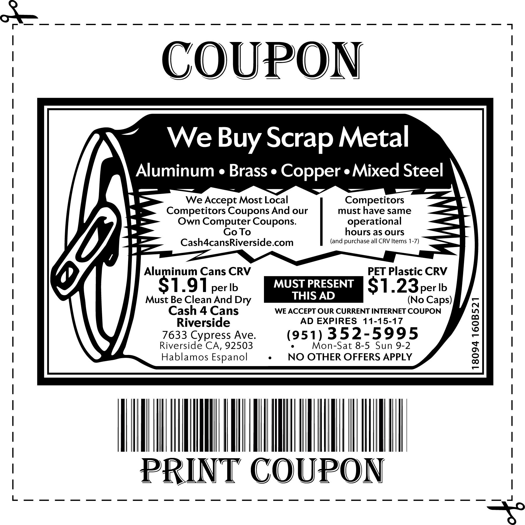 image relating to Pat Catan's Coupons Printable known as Money 4 cans coupon / Clean Discount codes